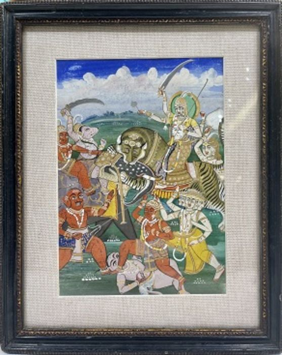 19th Century Indian Painting - Image 2 of 2