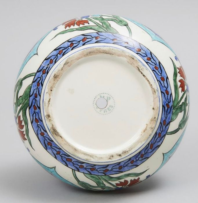 19th Century Sevres Iznik Style Vase With Floral Ottoman Motif Patterns - Image 2 of 2