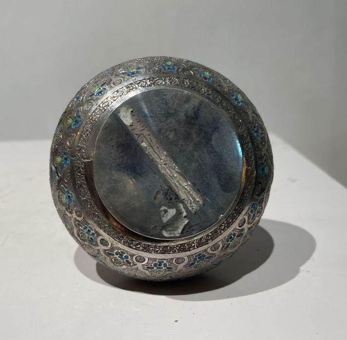 Persian Silver Unusual Enamelled Jug - Image 4 of 7