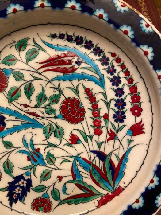 19th Century Turkish Ottoman Iznik Plate - Image 3 of 4
