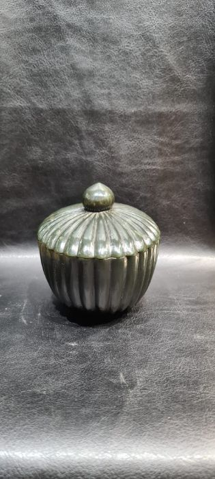 Indian Mughal Spinach Jade Ribbed Bowl - Image 5 of 7