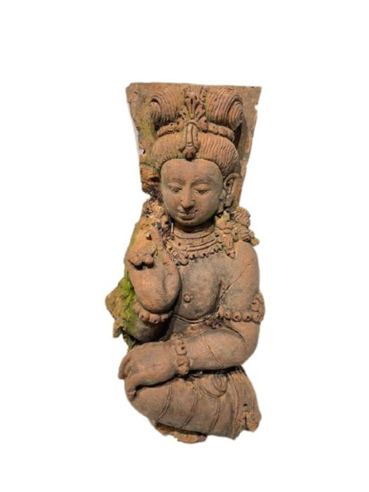 Large Indian Terracotta Buddha Figure Plaque