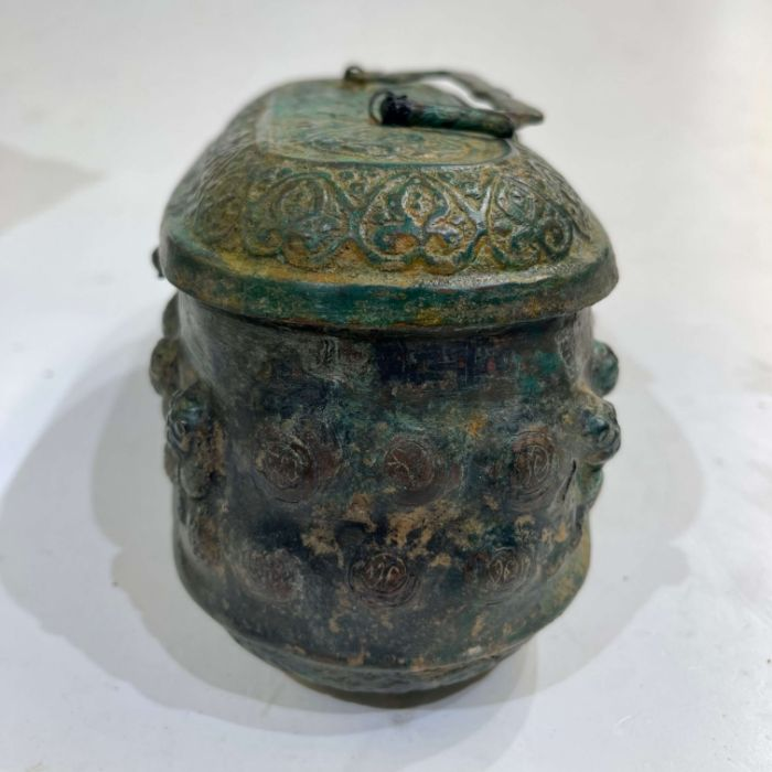 Ghaznavid Bronze Islamic 12th Century Box With Lion & Calligraphic Inscriptions - Image 4 of 6