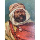 19th Century Important Turkish Ottoman Orientalism Vernet Signed Osman Hamdi Bey Portrait Painting