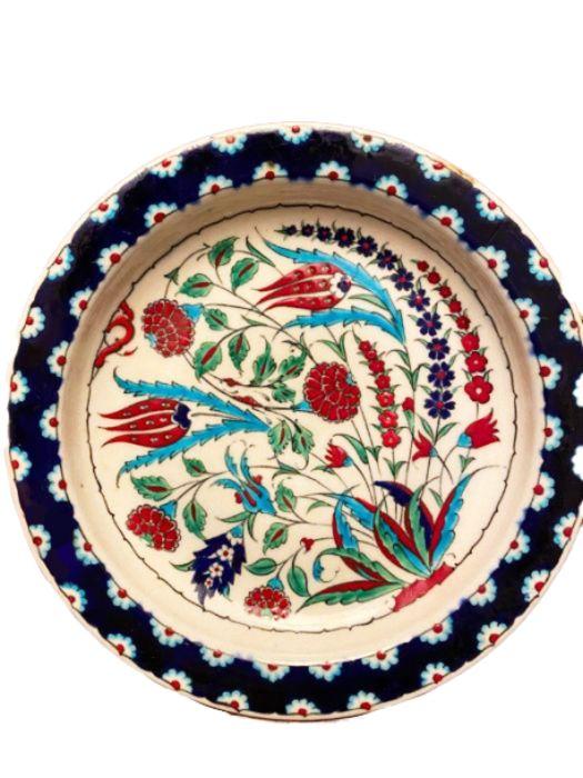 19th Century Turkish Ottoman Iznik Plate