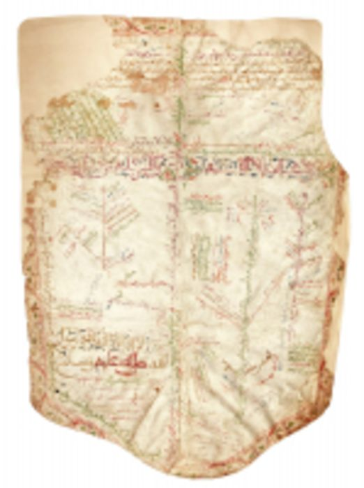 A BANNER-SHAPED GENEALOGY ON VELLUM, NORTH AFRICA, 16TH-17TH CENTURY
