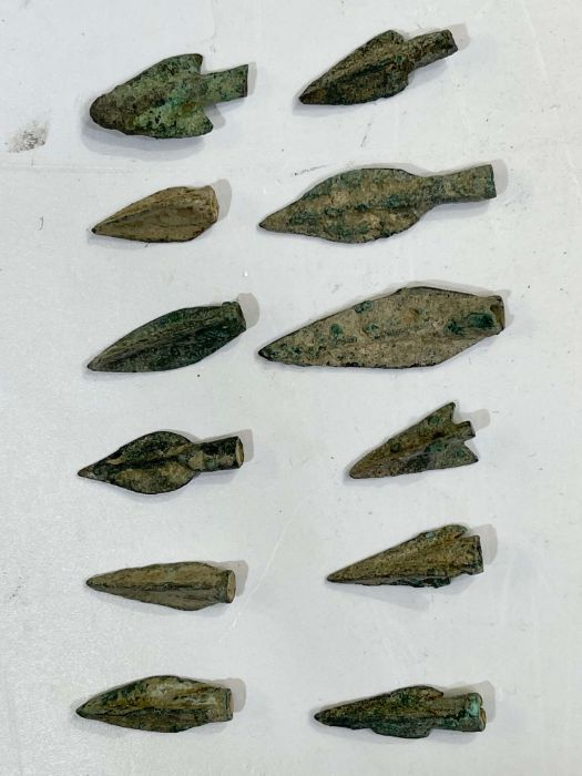 Greek period bronze arrow heads during the 1st millennium BC - Image 3 of 3