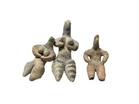 2nd millennium BC clay figurines of mother goddesses of ancient Near East