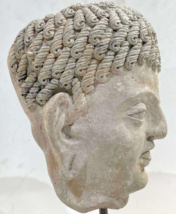 3rd Century Gandhara Stucco Head - Image 4 of 6