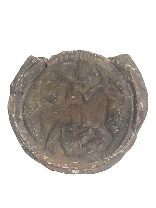 Sassanian period clay mould with an rider 400/500AD