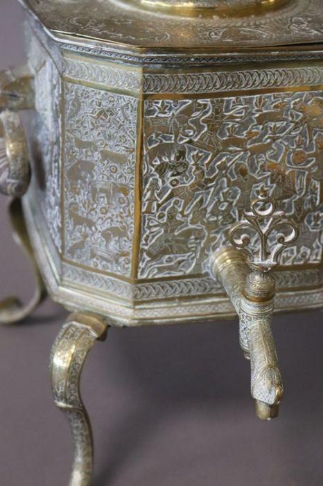 Qajar Tea Fountain Brass cut sides - Image 2 of 6