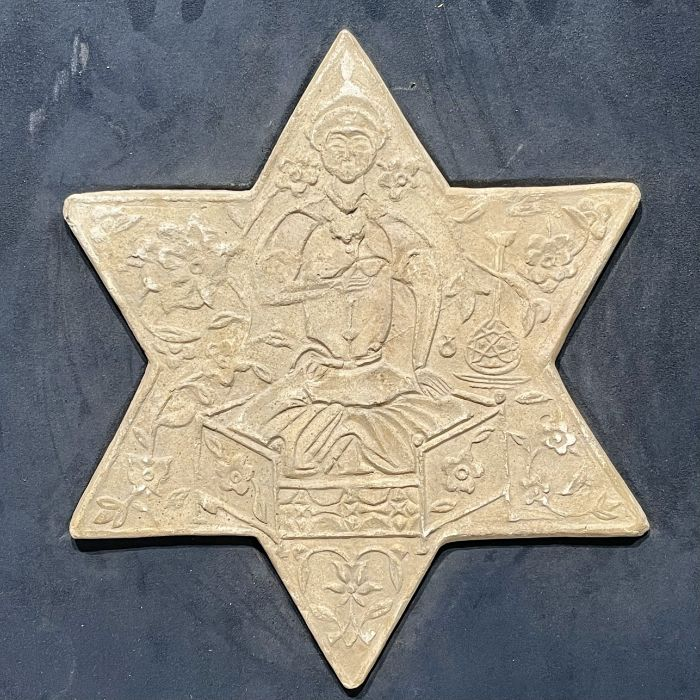 TWO UNGLAZED POTTERY STAR TILES, GHAZNAVID PERIOD, 12TH-13TH CENTURY - Image 4 of 4