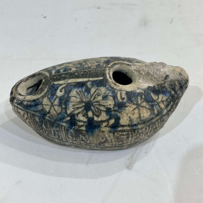 Ceramic Ayoubi Lamp 13-14 Counter With Calligraphic Inscriptions - Image 2 of 6