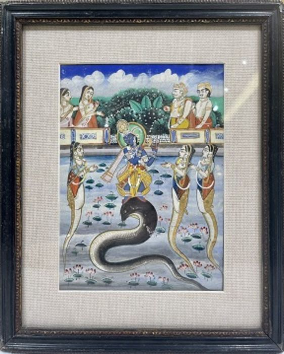 19th Century Indian Framed Painting - Image 2 of 2