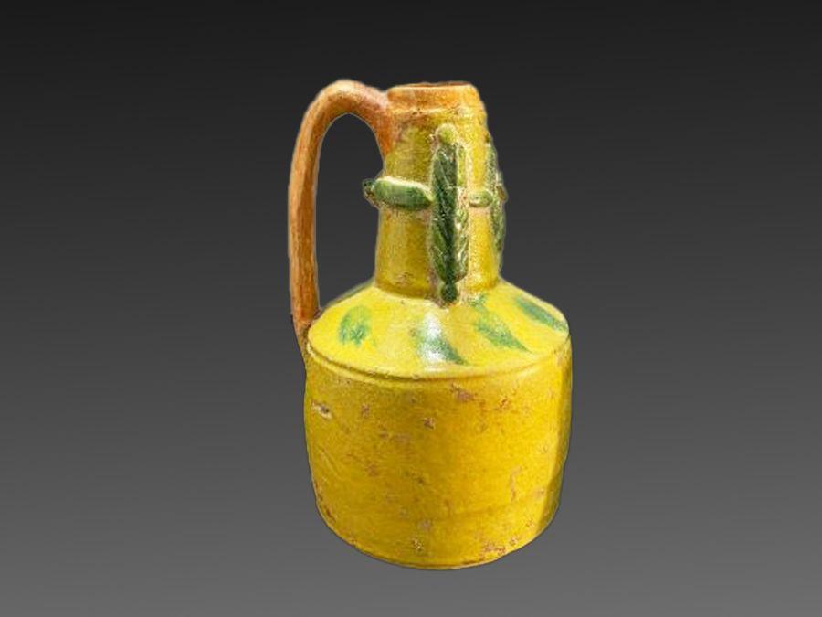 Umayyad 8th Century Jug Unusual Yellow & Green Colouring