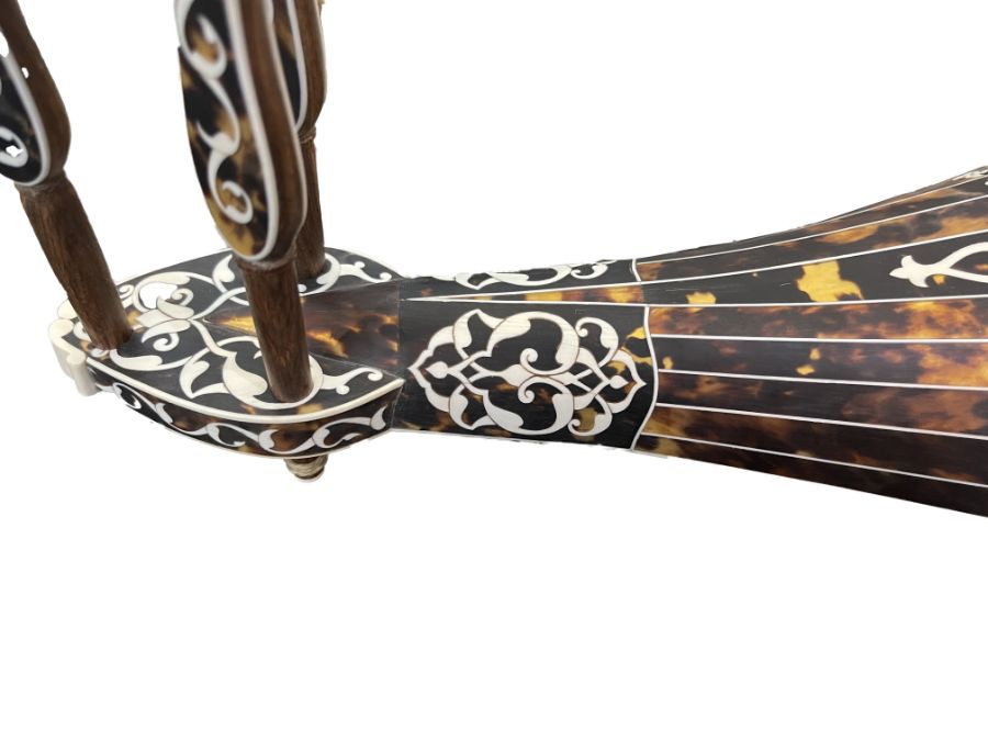 AN OTTOMAN MOTHER-OF-PEARL AND TORTOISESHELL MUSICAL INSTRUMENT (KEMANCHE) Turkey, late 19th Century - Image 9 of 9