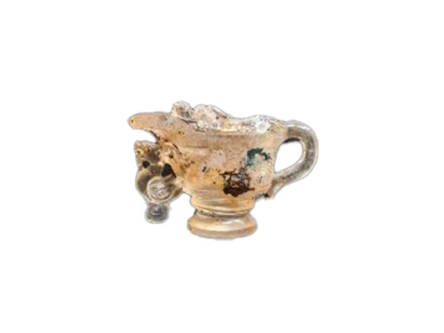 Rare Chinese Rock Crystal/Glass Libation Cup