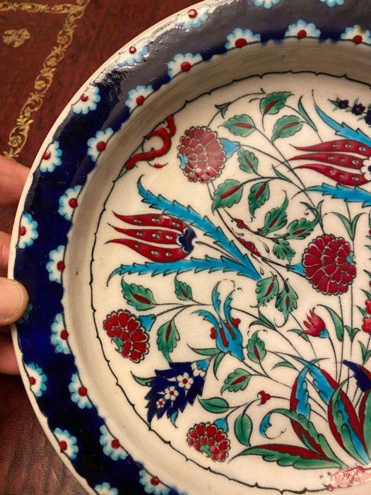 19th Century Turkish Ottoman Iznik Plate - Image 4 of 4