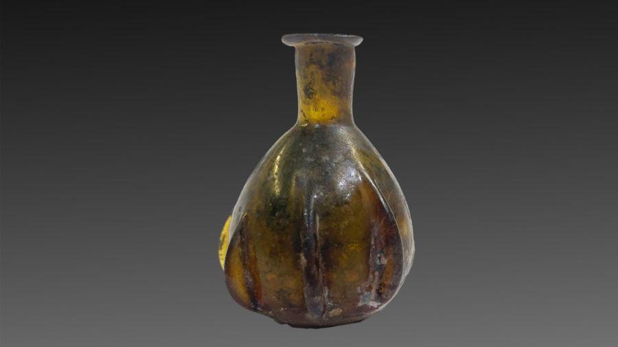 Roman fluted glass bottle 2/3 century