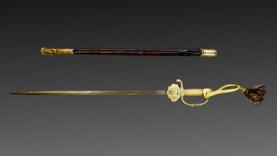 19th century Important Qajar period sword of an official ruler