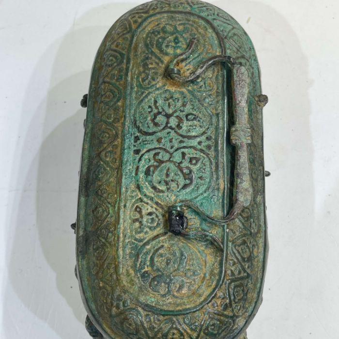 Ghaznavid Bronze Islamic 12th Century Box With Lion & Calligraphic Inscriptions - Image 2 of 6
