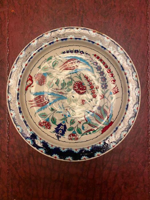 19th Century Turkish Ottoman Iznik Plate - Image 2 of 4