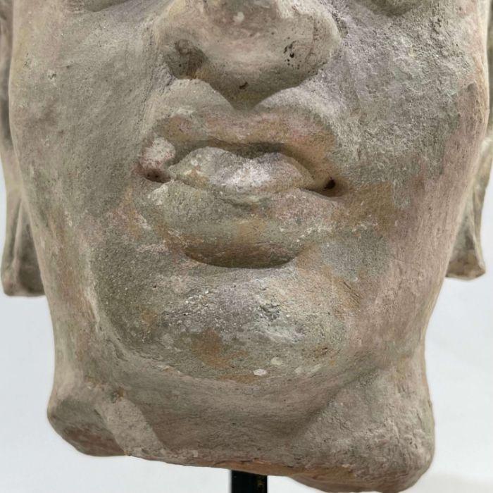 3rd Century Gandhara Stucco Head - Image 2 of 6