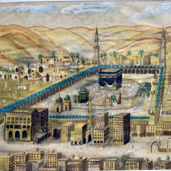 19th Century Ottoman Watercolour Painting Depicting Mecca - Image 2 of 4