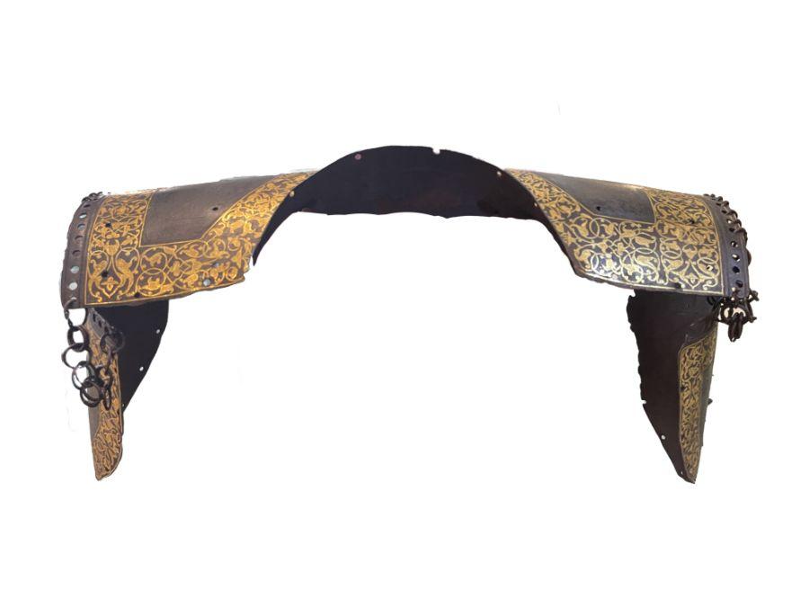 18th/19th Century Turkish Ottoman Golden Inlay Chest Plate Body Armor
