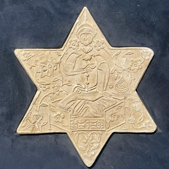 TWO UNGLAZED POTTERY STAR TILES, GHAZNAVID PERIOD, 12TH-13TH CENTURY - Image 3 of 4