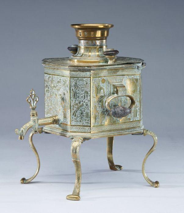 Qajar Tea Fountain Brass cut sides