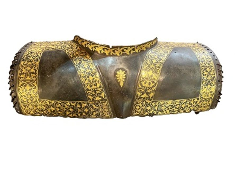 18th/19th Century Turkish Ottoman Golden Inlay Chest Plate Body Armor - Image 5 of 5