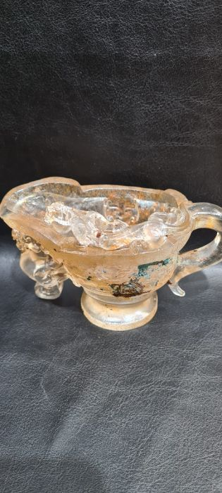 Rare Chinese Rock Crystal/Glass Libation Cup - Image 9 of 9