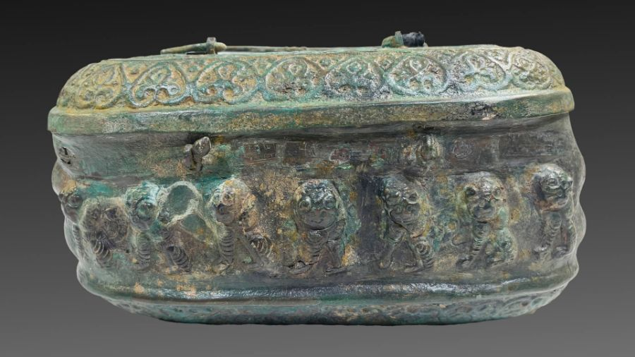 Ghaznavid Bronze Islamic 12th Century Box With Lion & Calligraphic Inscriptions - Image 6 of 6