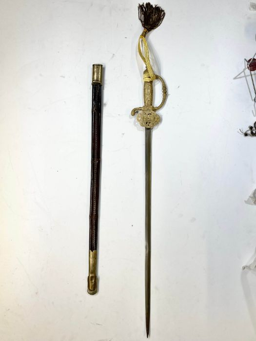 19th century Important Qajar period sword of an official ruler - Image 3 of 8