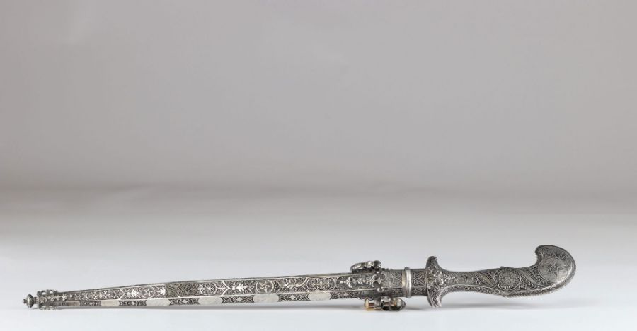 Ottoman Silver Dagger With Calligraphic Inscriptions - Image 2 of 12