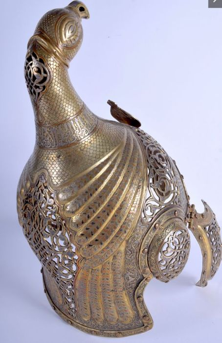 19th Century Central Asian Islamic Helmet Open Foliage & Kufic Script Calligraphic Inscriptions - Image 5 of 8