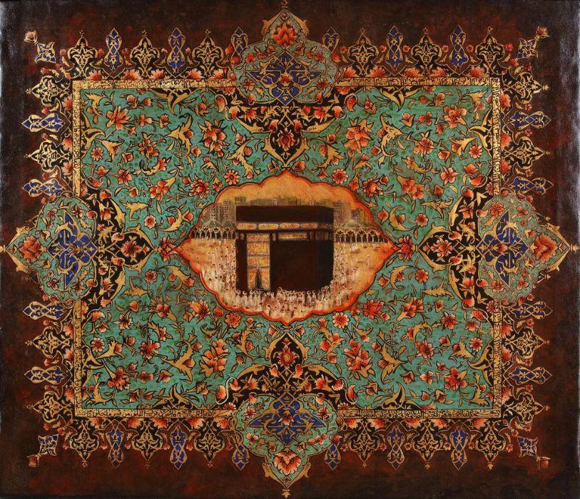 AN ISLAMIC PAINTING OF THE KAABA