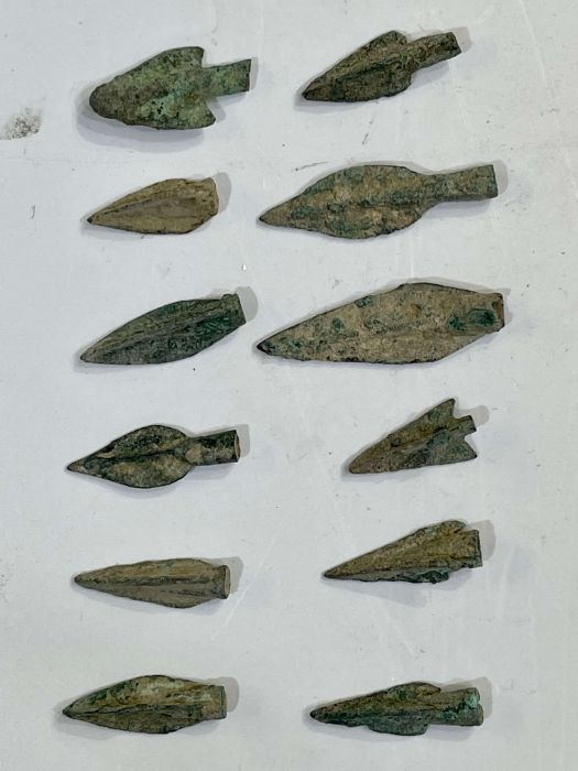 Greek period bronze arrow heads during the 1st millennium BC - Image 2 of 3