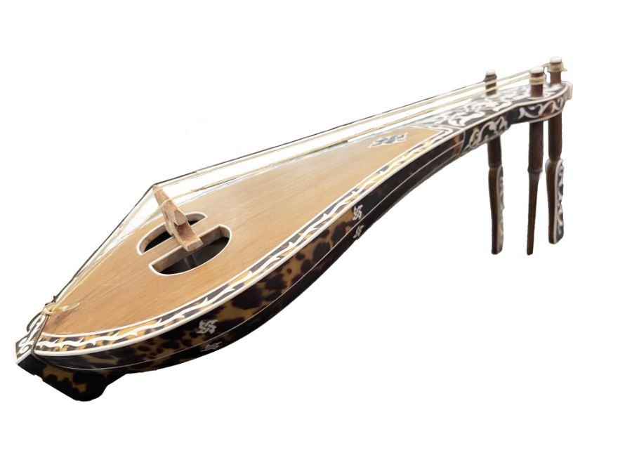 AN OTTOMAN MOTHER-OF-PEARL AND TORTOISESHELL MUSICAL INSTRUMENT (KEMANCHE) Turkey, late 19th Century