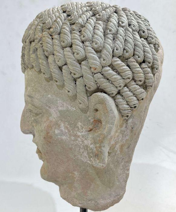 3rd Century Gandhara Stucco Head - Image 5 of 6