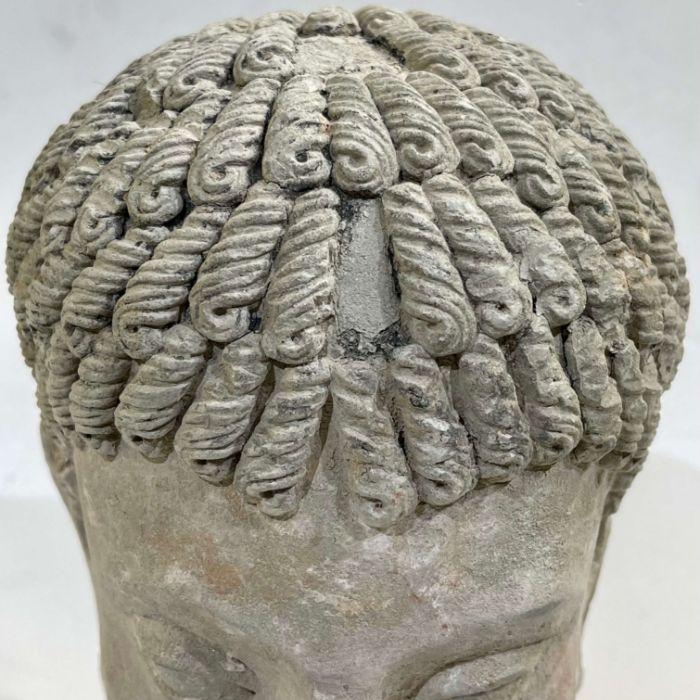 3rd Century Gandhara Stucco Head - Image 3 of 6