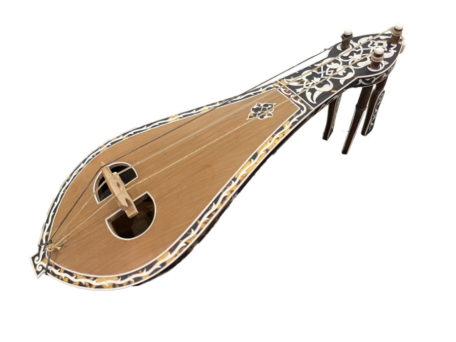 AN OTTOMAN MOTHER-OF-PEARL AND TORTOISESHELL MUSICAL INSTRUMENT (KEMANCHE) Turkey, late 19th Century - Image 2 of 9