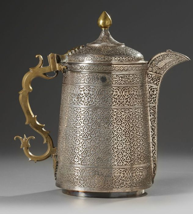 19th Century Silver Ottoman Turkish Jug With Calligraphic Inscriptions - Image 3 of 3
