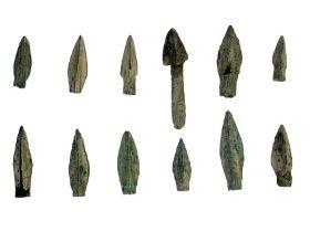 Greek period bronze arrow heads during the 1st millennium BC