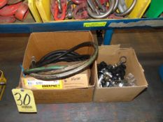 LOT CONSISTING OF: Enerpac hoses & fittings, assorted (in two boxes)