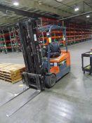 """ELECTRIC FORKLIFT, TOYOTA 4,000 LB. BASE CAP. MDL. 7FBEU20, 3,450 lb. cap. @ 24"""" load center, 189"""""""
