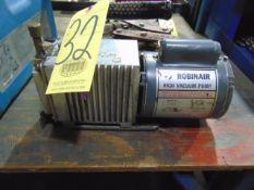 HIGH VACUUM PUMP, ROBINAIR MDL. 15102-B, CAP 3CFM