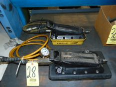 LOT OF HYDRAULIC AIR PUMPS, ENERPAC (2), assorted