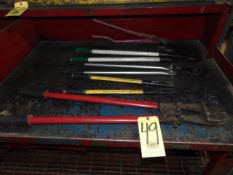 LOT OF CUTTERS (6), assorted (on one bench)